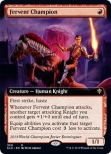 Fervent Champion (Extended Art) - Throne of Eldraine: Extras - Foil