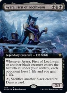 Ayara, First of Locthwain (Extended Art) - Throne of Eldraine: Extras - Foil