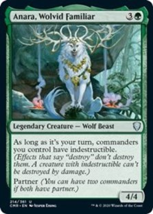 Anara, Wolvid Familiar - Commander Legends - Foil